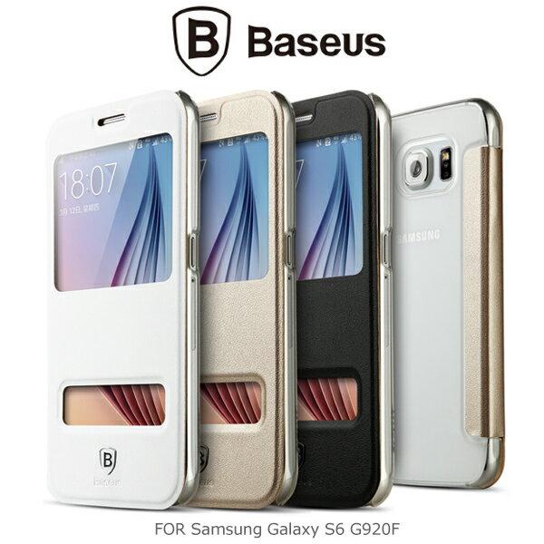 強尼拍賣~ BASEUS 倍思 Samsung Galaxy S6 G920F 原色皮套 開窗皮套 滑動接聽 保護套