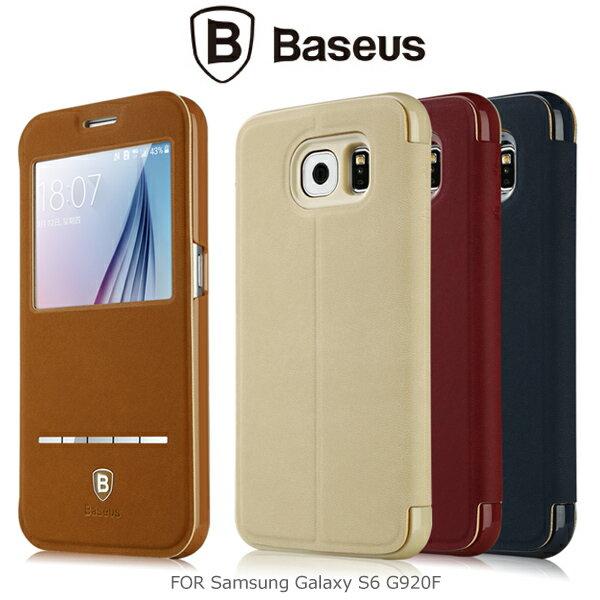 強尼拍賣~ BASEUS 倍思 Samsung Galaxy S6 G920F 簡約皮套 開窗皮套 可立皮套 保護套