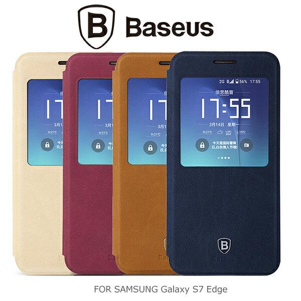 強尼拍賣:強尼拍賣~BASEUS倍思SamsungGalaxyS7EdgeG935F簡約皮套可立皮套保護套
