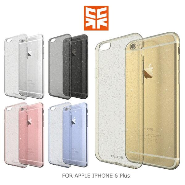 強尼拍賣~ Case Cube APPLE IPHONE 6 Plus 金粉 TPU軟殼 後背包覆殼