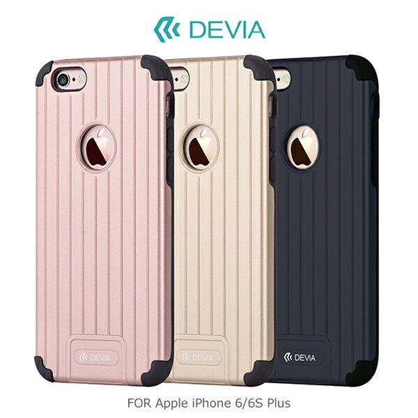 強尼拍賣~ DEVIA Apple iPhone 6/6S Plus 旅行箱二合一保護殼 四角防震 PC+TPU 背殼