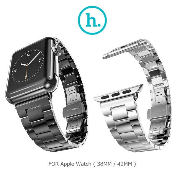 強尼拍賣~ HOCO Apple Watch (38mm / 42mm) 格朗鋼錶帶極致款(銀色)