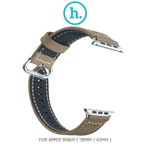 強尼拍賣~ HOCO Apple Watch (38mm / 42mm) 優尚皮錶帶 - 奢華款