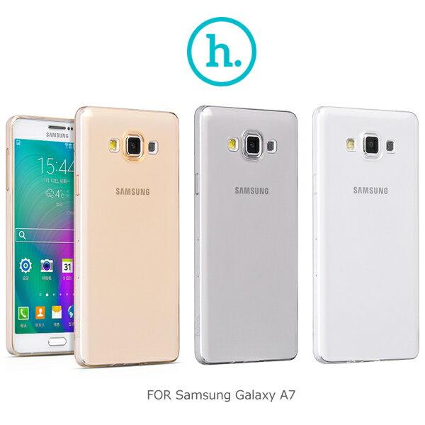 強尼拍賣~HOCO Samsung Galaxy A7 輕系列TPU套 軟套 果凍套 透色套 超薄套 保護套(黑)