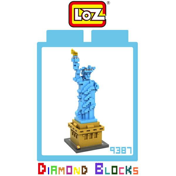 強尼拍賣^~LOZ 鑽石積木 9387 自由女神 建築系列 益智玩具 趣味 腦力激盪 積木