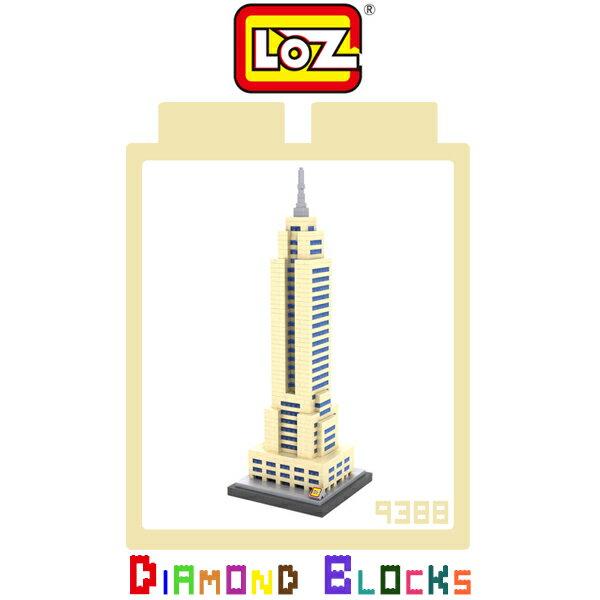 強尼拍賣~LOZ 鑽石積木 9388 帝國大廈 建築系列 益智玩具 趣味 腦力激盪 積木
