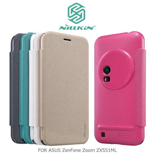 強尼拍賣~ NILLKIN ASUS ZenFone Zoom ZX551ML 星?皮套 側翻皮套 保護套-玫瑰紅