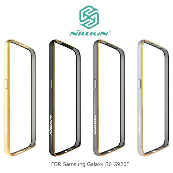 強尼拍賣~ NILLKIN Samsung Galaxy S6 G920F 哥特金屬邊框 太空鋁合金材質 表扣設計