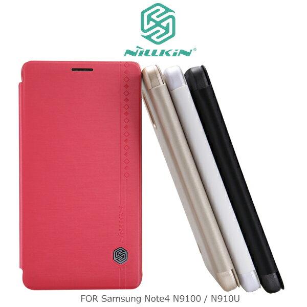 強尼拍賣~ NILLKIN Samsung Note4 N9100/N910U 絲雨系列皮套 側翻皮套 保護套 保護殼