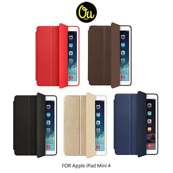 強尼拍賣~ Oucase Apple iPad Mini 4 with Retina 原系列皮套 三折皮套-咖啡色