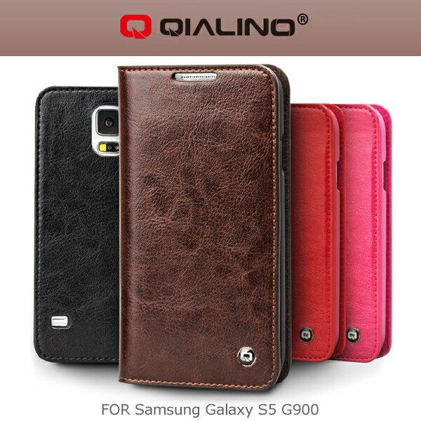 強尼拍賣~ QIALINO 洽利 Samsung Galaxy S5 G900 系列真皮皮