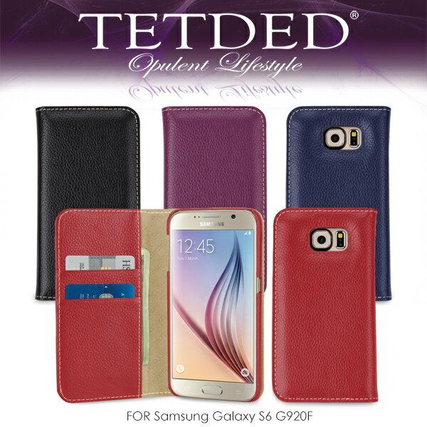 強尼拍賣~ TETDED 法國精品 Samsung Galaxy S6 G920F Gerzat II 側翻可插卡皮套