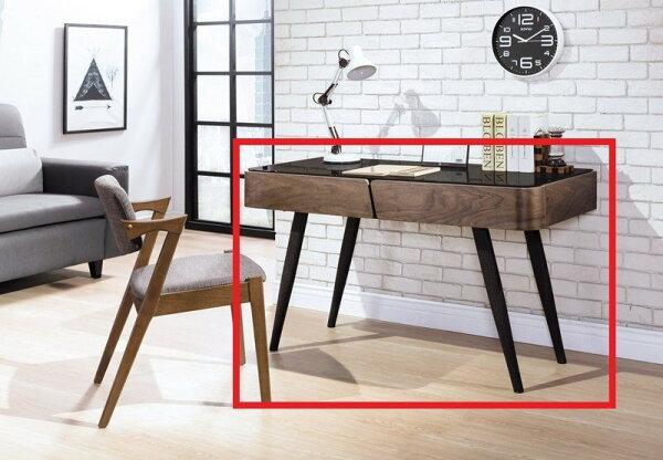 【石川家居】YE-A506-01德瑞克4.2尺黑腳書桌(不含椅及其他商品)台北到高雄搭配車趟免運
