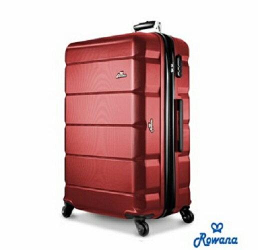 【Rowana】 經典橫紋20吋防爆拉鍊 ABS 旅行箱/行李箱【H00155】