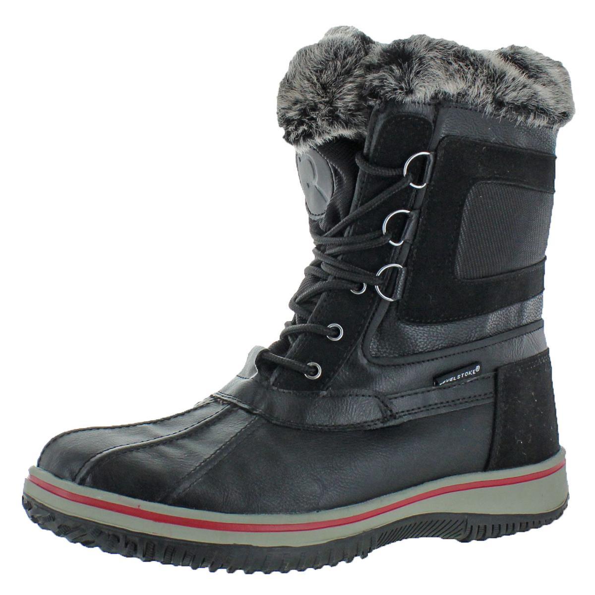 9c3f7127399 BHFO  Revelstoke Men s Drydock Duck Toe Faux Fur Winter Snow Boots ...