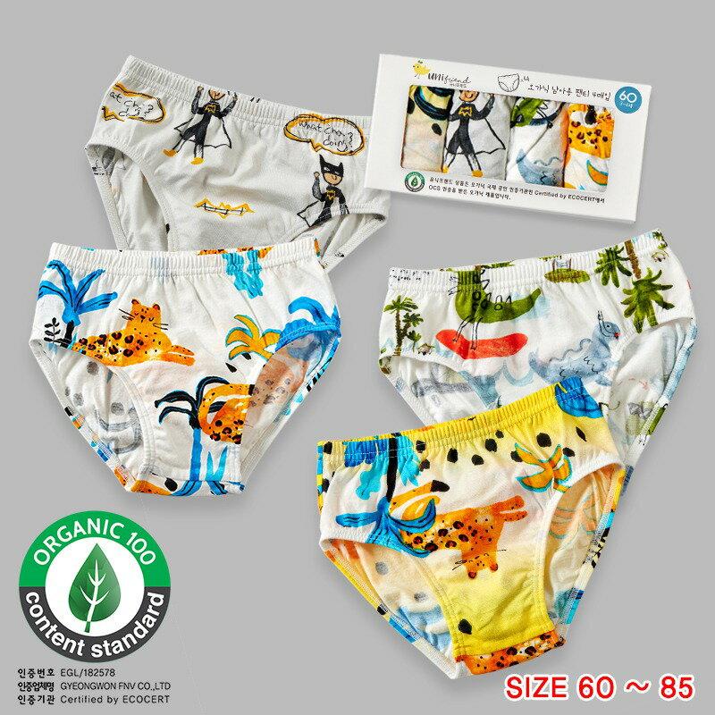 【2021】韓國UNIFRIEND 新款兒童內褲★男童三角內褲 卡通盒裝 『男孩夏日風情- 四件組』