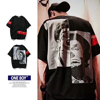 『 One Boy 』【N170626】個性暗黑系小丑情侶寬鬆T恤 - 限時優惠好康折扣