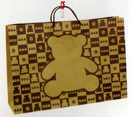 紙袋1K~10入~牛皮玩具熊~棉把手 pbag~003