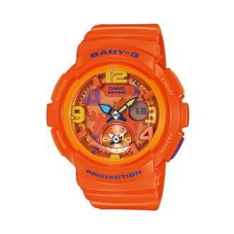 CASIO BABY-G/少女時代*旅行時間雙顯運動錶/亮橘/BGA-190-4BDR