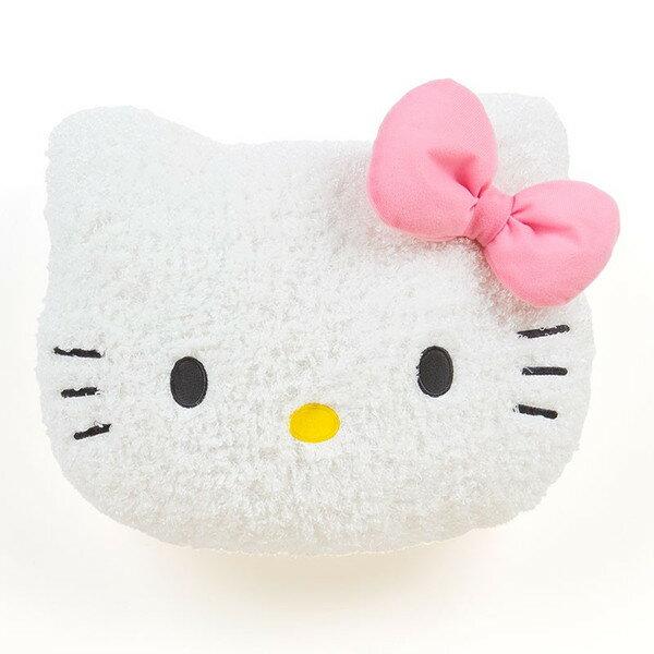 【真愛日本】15111400021 捲毛抱枕S-KT大頭紅結 三麗鷗 Hello Kitty 凱蒂貓 抱枕 枕頭 居家