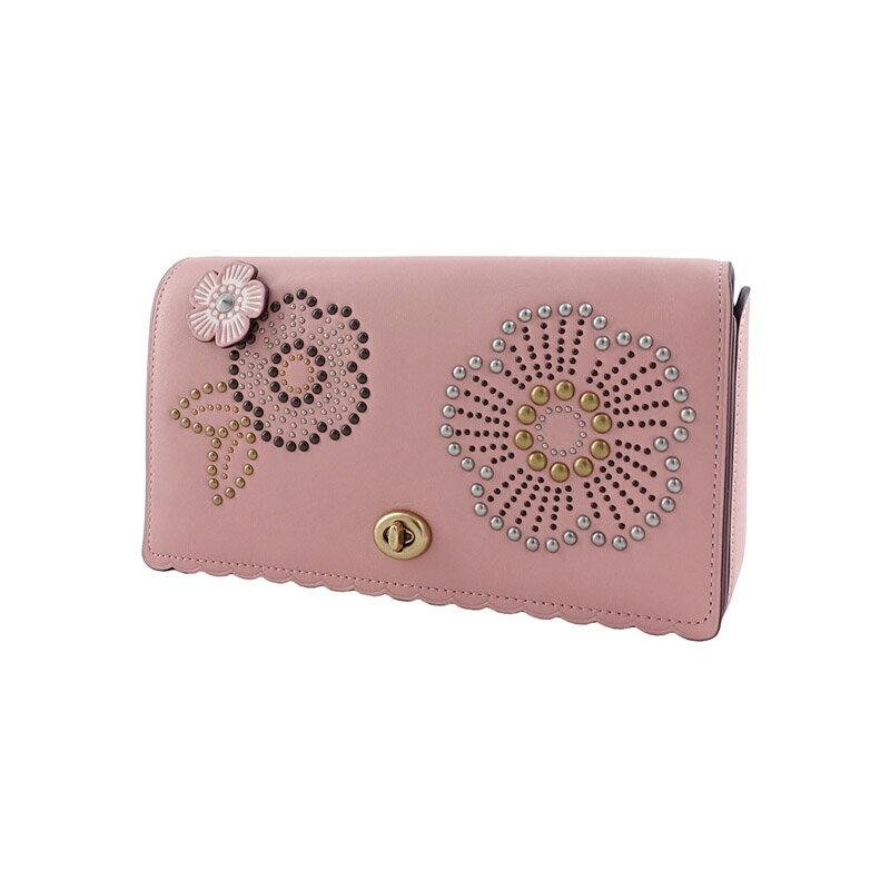 COACH 女士粉色印花單肩斜挎包 F26892 1