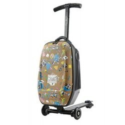 瑞士 Micro Luggage ( Steve Aoki 版) 手提登機箱滑板車【紫貝殼】