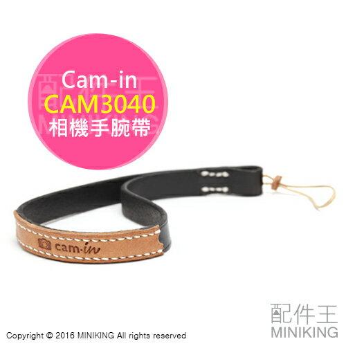 ~ 王~  Cam~in CAM3040 黑色 真皮手腕帶 皮革 機身帶 相機繩 單眼 微