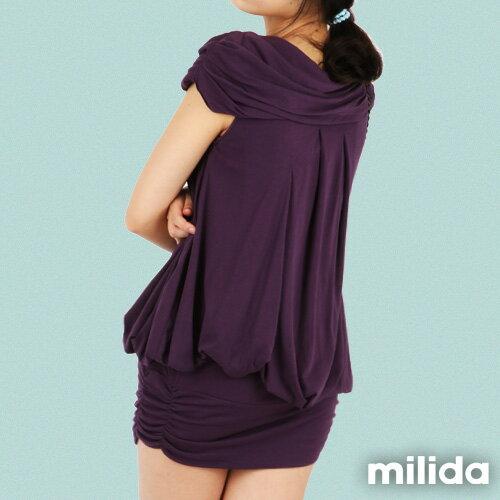 【Milida,全店七折免運】-夏季商品-氣質款-一字領洋裝 4