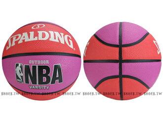 Shoestw【SPA83278】斯伯丁籃球 SPALDING VARSITY 室外基本款 紫橘色