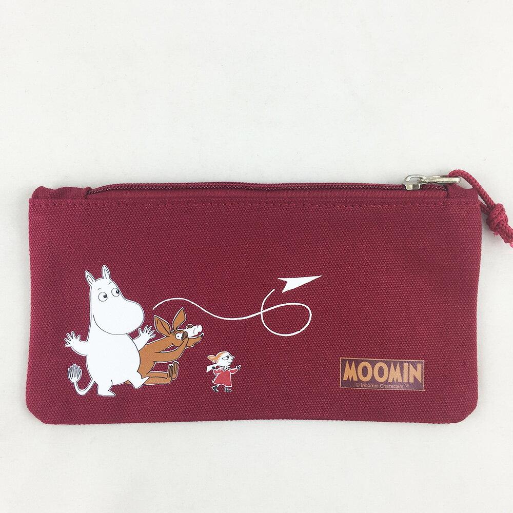 嚕嚕米正版授權-筆袋(紅)