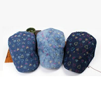 貝雷帽鴨舌帽-棉質水洗印花牛仔女帽子3色73tv193【獨家進口】【米蘭精品】