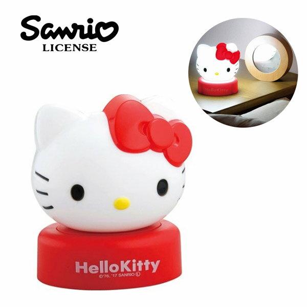 【日本正版】凱蒂貓LED夜燈按壓式擺飾小夜燈HelloKitty三麗鷗-732357