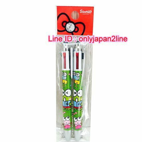 【真愛日本】16101300033 2入觸控4色原子筆-KR綠    三麗鷗家族  Keroppi 大眼蛙  觸控筆 原子筆  文具用品