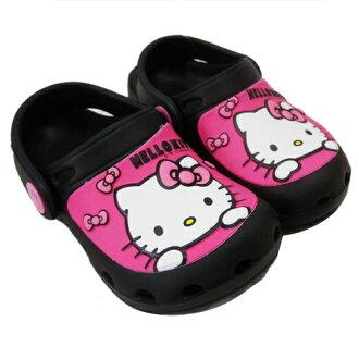 【真愛日本】花園鞋815760-黑15~22  三麗鷗 Hello Kitty 凱蒂貓