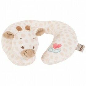 比利時【NATTOU】絨毛動物造型護頸枕M號 - 夏洛特 - 限時優惠好康折扣