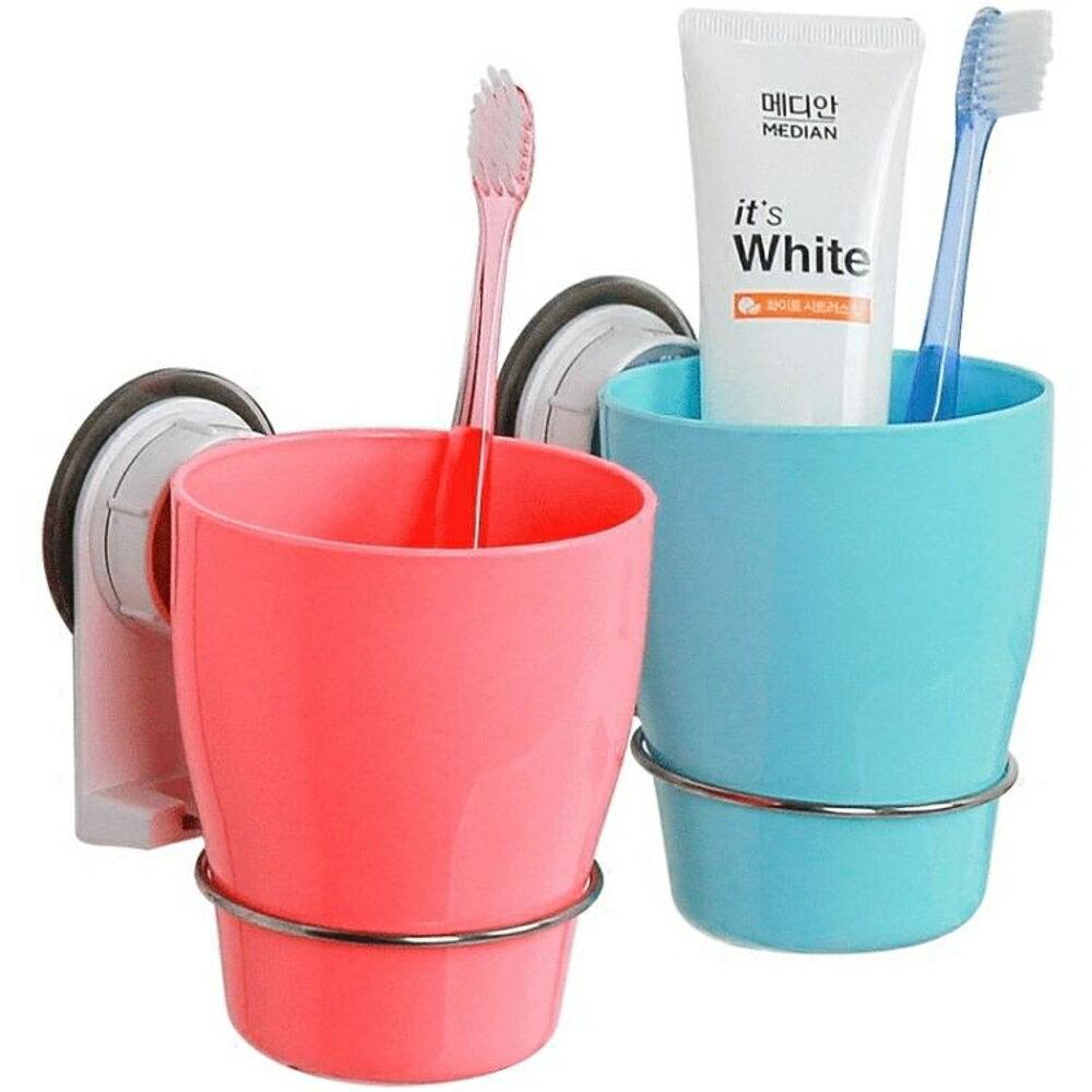 牙杯架 壁掛 牙刷杯架 衛生間牙刷架漱口杯架 吸壁式洗漱架免打孔     全館八五折