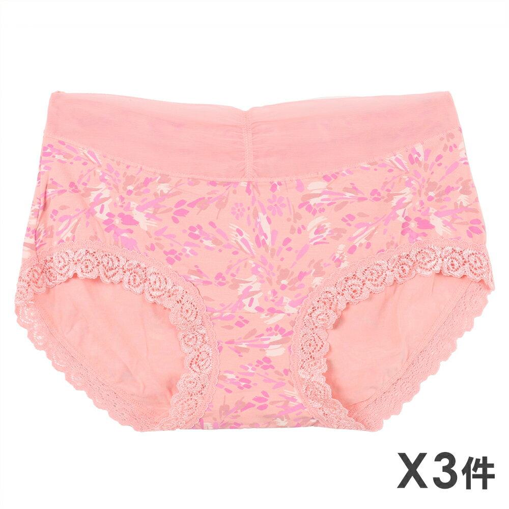 3件199免運【夢蒂兒】莫代爾纖維 甜性感花兒三角褲3件組(隨機色)