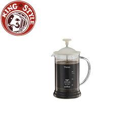 金時代書香咖啡 Tiamo 多功能法式玻璃濾壓壺 650cc 白色 HG2110W