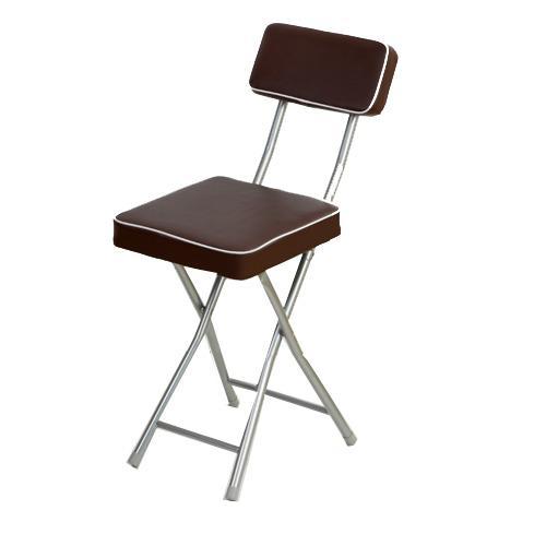 丹寧方型厚墊折疊椅-咖啡色【愛買】