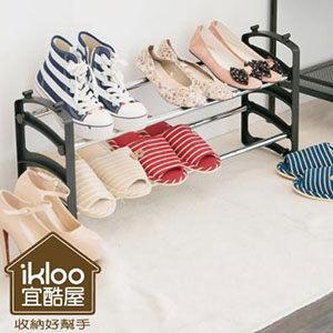 Loxin~BG0555~ikloo~伸縮可調式鞋架組一入 鞋架 鞋櫃 鞋子收納 玄關 外