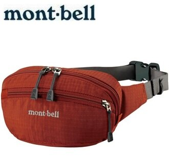 Mont-Bell 休閒腰包/旅行腰包 Delta gusset pouch S 1123763 TERA磚橘