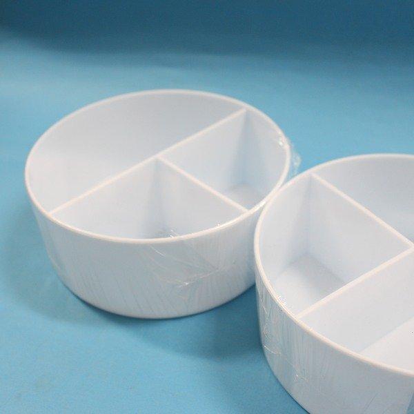 天成塑膠筆洗 6.5英吋 圓形三格筆洗 國畫筆洗 圓形水彩筆洗筒(白色) 直徑17cm/一個入{促80}