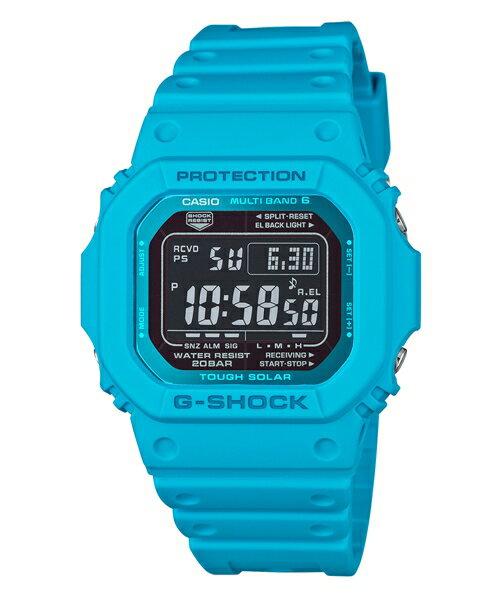 CASIO G-SHOCK GW-M5610MD-2蔚藍電波流行數位腕錶/43.2mm