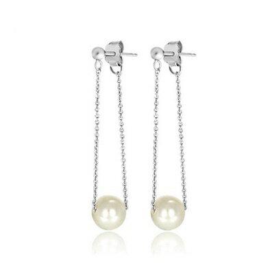 ~925純銀耳環珍珠耳飾~甜美氣質 母親節生日情人節 女飾品2色73dm180~ ~~米蘭