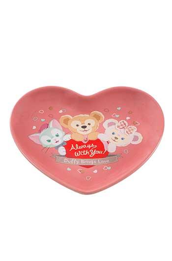 X射線【C314001】日本東京迪士尼代購-情人節限定Duffy點心盤,點心碗/首飾盤/糖果盤/雪莉玫/達菲/畫家