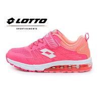 女性慢跑鞋到LOTTO樂得-義大利第一品牌 童款KPU氣墊慢跑鞋 鳳凰展翼系列 [5303] 粉桔【巷子屋】就在巷子屋推薦女性慢跑鞋