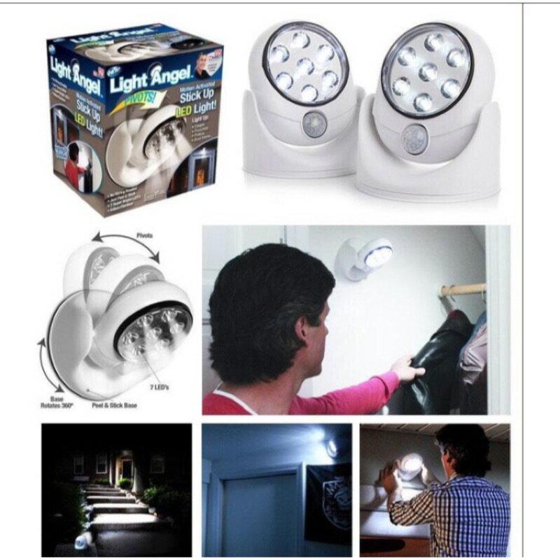 最新款自動感應燈  Light angel 感應燈LED 360度旋轉型 7LED燈 人體自動感應