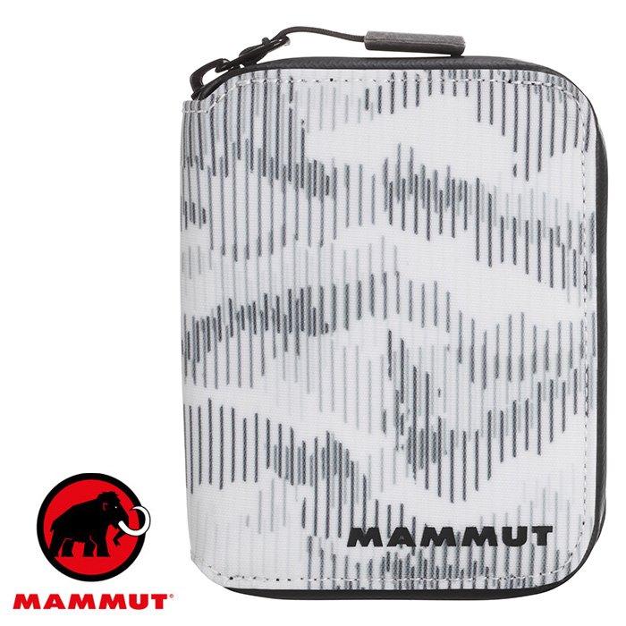【Mammut 長毛象 瑞士】Seon Zip Wallet X 防水拉鍊短夾 拉鍊錢包 皮夾 迷彩白 (00090-00370)