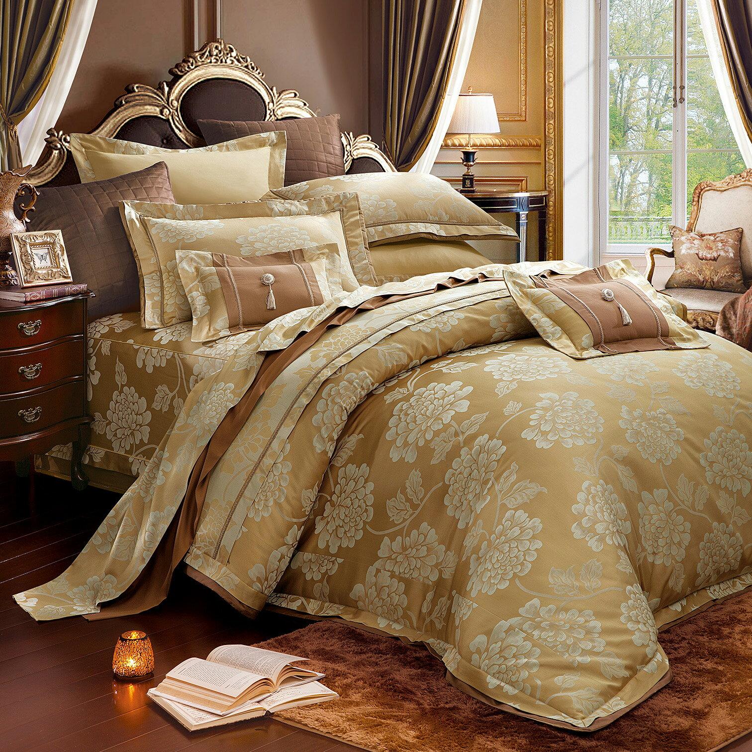 七件式床罩組 雙人/加大  A1701 芙蕾亞*經典緹花*奧斯汀台灣製造