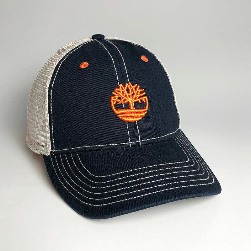 美國百分百【全新真品】Timberland 帽子 棒球帽 男帽 網帽 鴨舌帽 配件 電繡LOGO 深藍 AE86